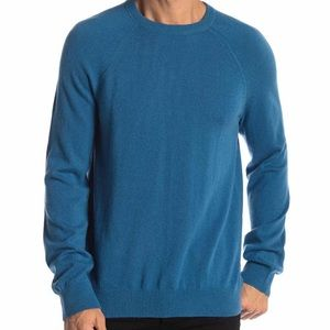 Vince wool cashmere crew neck sweater teal M NWT